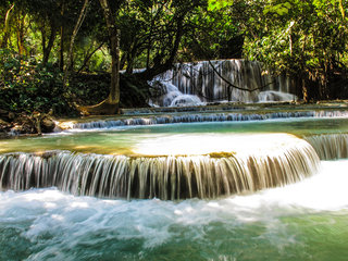Luang Prabang - Kuang Si Waterfall (B, L)