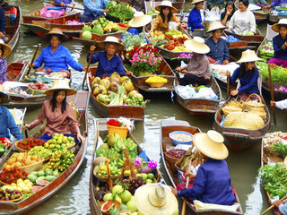 Bangkok Floating Market With Rose Garden