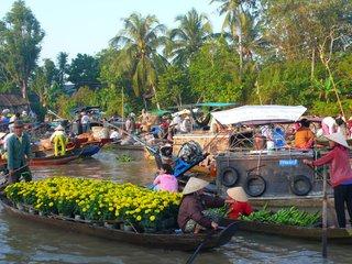 Cai Rang Floating Market – Long Xuyen - Bird Sanctuary – Ho Chi Minh (B, L)